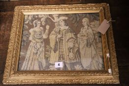 Three tapestry panels, largest 200 x 180cmCONDITION: Not handmade. They are mid-century machine made