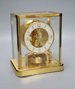 A Jaeger Le Coultre atmos clock, width 20cm height 23cmCONDITION: Visually very good; appears to