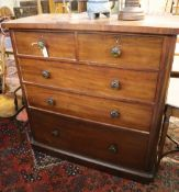 A Victorian mahogany chest of drawers, width 117cm, depth 53cm, height 120cm