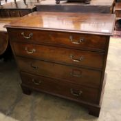 A George III mahogany four drawer chest, width 84cm, depth 47cm, height 78cm