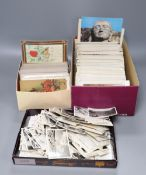 A quantity of postcards, early 20th century and later