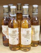 Seven half bottles of Chateau Coutet a Barsac, 1983.