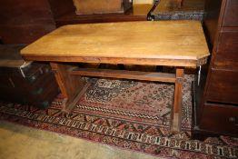An Art Deco oak centre table, width 120cm, depth 60cm, height 68cm