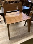 A Christopher Coane design sapele wood 'stout' side chair