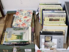 A quantity of antiques and arts reference books to include Philip's Guide to English Porcelain,