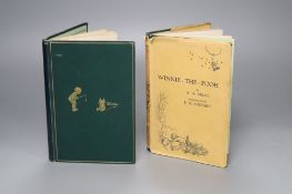 Two Winnie The Pooh books illustrated by E.H. Shepherd