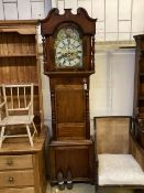 A mid 19th century mahogany North Country eight day longcase clock, height 228cm