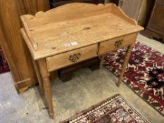 A Victorian style pine washstand, width 91cm depth 42cm height 90cm