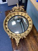 A Regency style giltwood convex mirror, diameter 50cm
