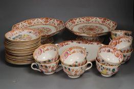 A Victorian bone china part teaset