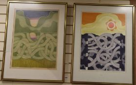 John Brunsden (1933-2014), two limited edition prints, Tangle and Nocturn, signed, 30/50 and 28/