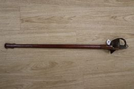 A George V officer's dress sword, with leather scabbard, 100cm