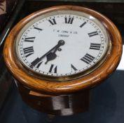 A T. W. Long & Co. Cardiff wall clock, 39cm