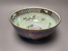 A Wedgwood lustre dragon decorated bowl, diameter 21cm