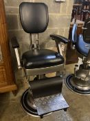 A vintage barber's chair
