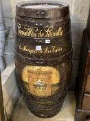 "A ""Grand Vin de Leoville"" wine cask barrel, height 112cm"