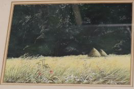 Paul Evans (1950-), gouache, 'The Magic Wood', signed, with wedding presentation inscription dated