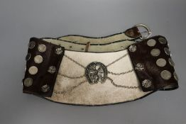 An Argentine horse-riders belt, ornamented with faux coins