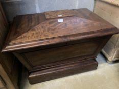 A Regency mahogany sarcophagus cellarette, width 87cm depth 60cm height 60cm