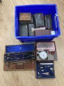 A quantity of cased surgeon's equipment