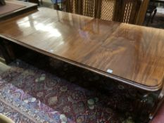 A Victorian mahogany extending dining table, 230cm extended (two spare leaves), width 120cm height