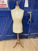 A dress maker's dummy, height 62cm