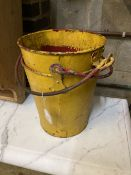 A pair of vintage painted fire buckets, diameter 27cm