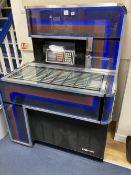 A 1970's Seeburg juke box, width 100cm depth 69cm height 136cm