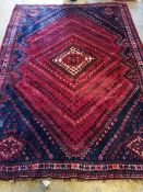 A North West Persian red ground rug, 250 x 180cm