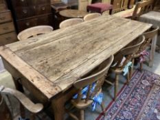 A 19th century fruitwood table