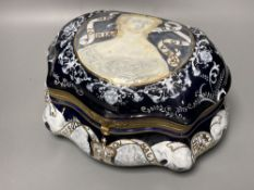 A Sevres style casket, height 15cm