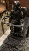 A Victorian style painted cast iron stick stand, height 67cm