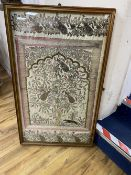 An Indian metal thread and sequin embroidered panel, 97 x 56cm, framedCONDITION: Provenance - Alfred