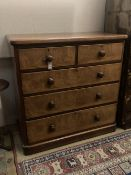 A Victorian mahogany chest of drawers, width 112cm depth 56cm height 114cm
