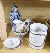 A group of mixed Chinese and Japanese export porcelain, 18th/19th century