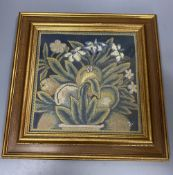 A 19th century petit point floral panel