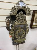 A Zaandam Dutch fusee bracket clock, height approx. 65cm