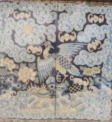 A Chinese Beijing knot embroidered civil rank badge, late QingCONDITION: Provenance - Alfred