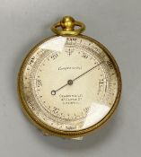 A Victorian pocket barometer, by Chadburns Ltd