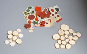 A group of 19th century plaster gems and wax sealsCONDITION: Provenance - Alfred Theodore Arber-