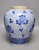A Chinese blue and white vase, height 33cm