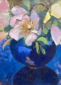 Sally Scott, oil on canvas, 'A Rose 2005', inscribed verso, 20 x 15cm