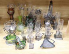 A quantity of Art Nouveau and decorative items