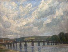 Ethel L. Rawlins (1880-1940), oil on canvas, Old Shoreham Bridge, signed, 40 x 50cm