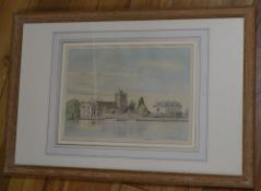 David Addey, watercolour, Cookham Spring, signed and dated 1979, 18 x 26cm