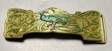 A Tiffany & Co enamelled belt buckle