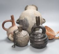 A group of five pre-Columbian or later pottery vesselsCONDITION: Provenance - Alfred Theodore