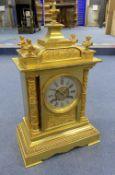 A Victorian ormolu mantel clock, height 40cm