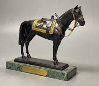 A bronze model of a horse 'Burmese'