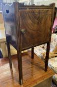 A 19th century mahogany pot cupboard, width 35cm, depth 31cm, height 71cm